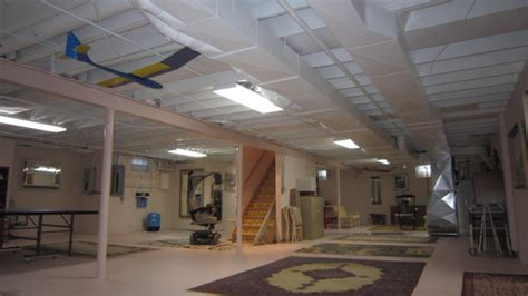 basement ceiling eclectic basement milwaukee