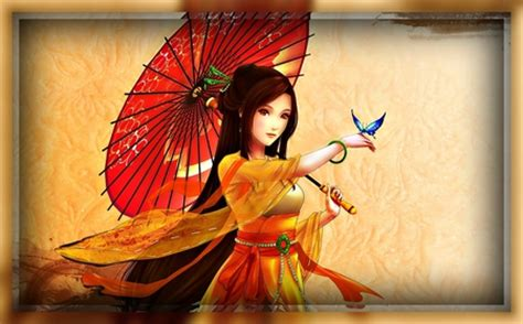 Asian Anime Wallpaper - beautiful asian abstract background