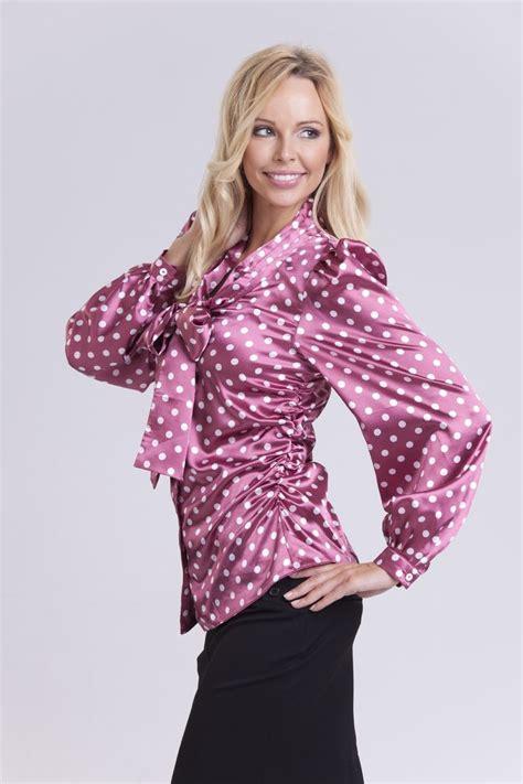 satin blouse dot satin blouse silk blouses