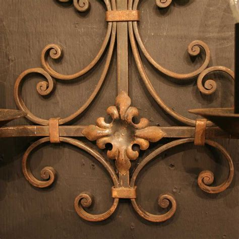 antiques atlas pair of wrought iron antique wall