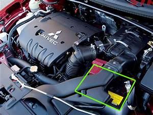 Mitsubishi Lancer Car Battery Location