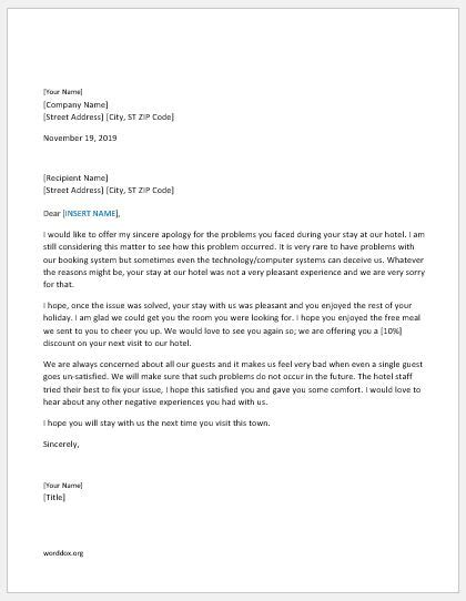 46 Apology Letter Templates for Everyone | Word Document