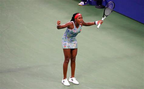 Jun 09, 2021 · united states's coco gauff returns the ball to czech republic's barbora krejcikova during their quarterfinal match of the french open tennis tournament at the roland garros stadium wednesday. Call Coco the Comeback Kid: Gauff wins US Open debut at 15 ...