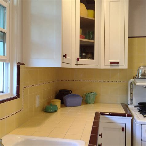 retro kitchen tiles carolyn s gorgeous 1940s kitchen remodel featuring yellow 1947