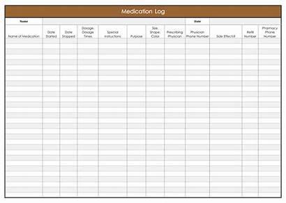 Medication Log Printable Template Sheet Daily Sheets