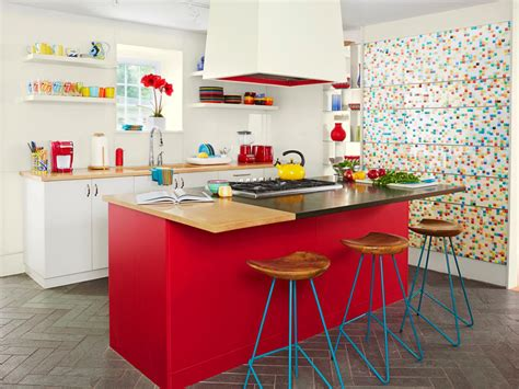 Colorful Cabinets by A Colorful Kitchen Makeover Hgtv