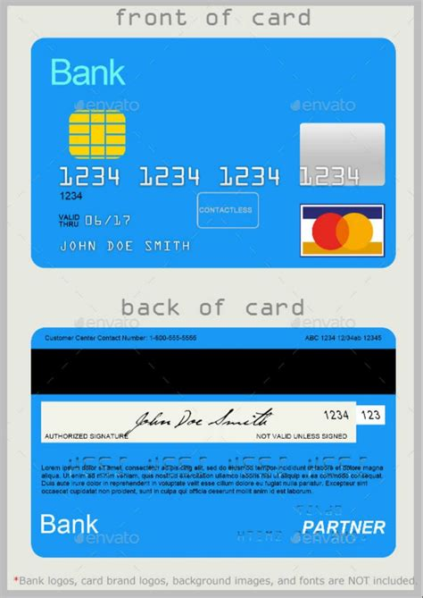 11 best virtual debit card which used for international stores! 10 Credit Card Designs in 2020   Credit card design, Free business card templates