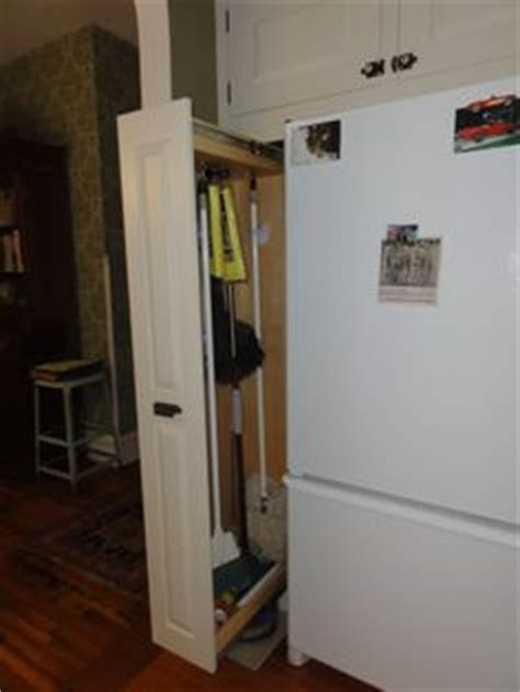 informal broom closet slide out   Home Decor
