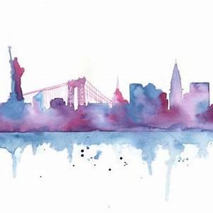 Original Watercolor Painting - New York from MilkFoam My Art