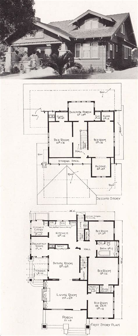 bungalow home plans craftsman houses  los angeles   stillwell
