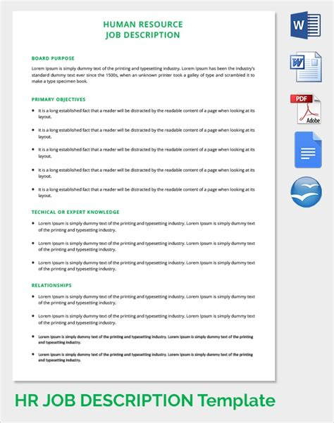 sample hr forms  documents   word