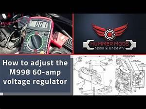 M998 Hmmwv Alternator  Generator Adjustment On A 60 Amp