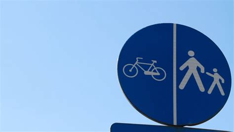 Funny Animated Cartoon, A Young Man Riding A Bicycle On