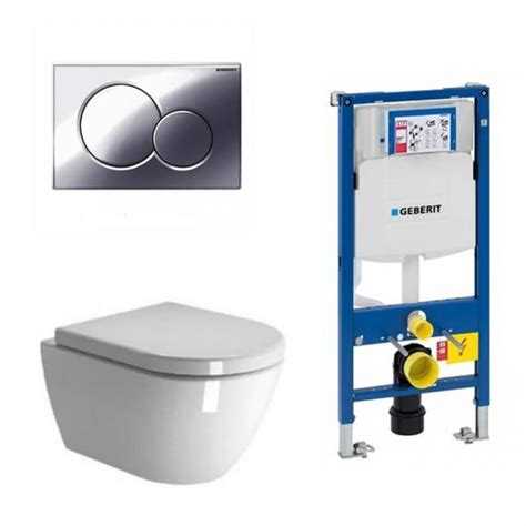 zero wall hung toilet seat with geberit 1120mm cistern frame sigma01 flush plate