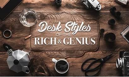 Famous Desks Rich Desk Genius Infographic Motion