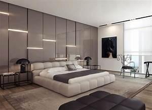 Schlafzimmer Wand Hinter Dem Bett : attraktive wandgestaltung hochglanz einbauleuchten hinter bett wand bedroom ~ Eleganceandgraceweddings.com Haus und Dekorationen