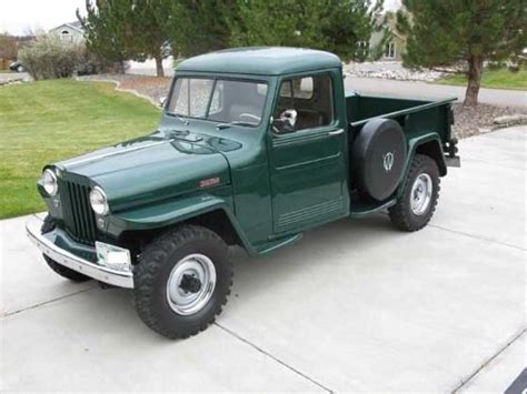 willys jeep pickup for sale willys trucks restored 1948 green willys overland for