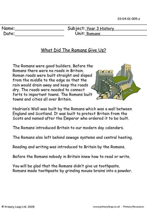 what did the romans give us primaryleap co uk