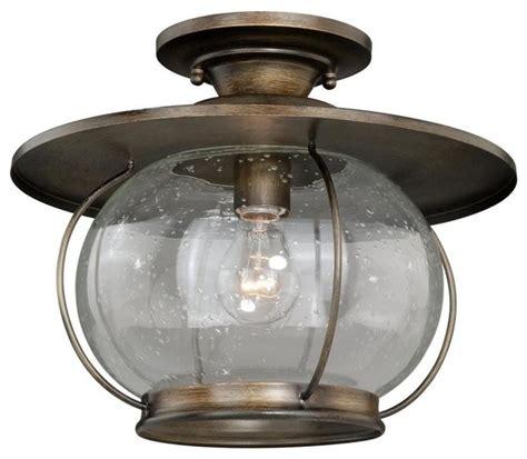 rustic flush mount ceiling lights vaxcel jamestown 13 5 quot semi flush mount parisian bronze