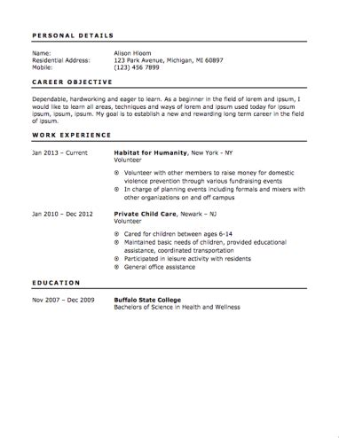 resume objective exles for teenagers 12 free high school student resume exles for