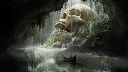 Cave Artstation Mabille Quentin Skull Crane Artwork
