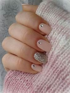 Ongles En Gel Rose : ongle en gel rose et paillette ~ Melissatoandfro.com Idées de Décoration