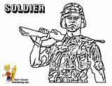 Coloring Army Pages Soldier Military Yescoloring Boys Solider Gusto sketch template