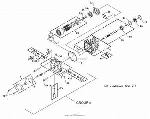 Bunton  Bobcat  Ryan 942220  48 Side Discharge Parts Diagram For Hydrogear Pump