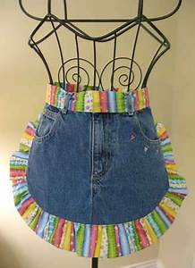 Schürze Nähen Ideen : sch rze aus alten jeans sch rzen jeansstoff sch rzen jeans n hen und vintage sch rze ~ Eleganceandgraceweddings.com Haus und Dekorationen