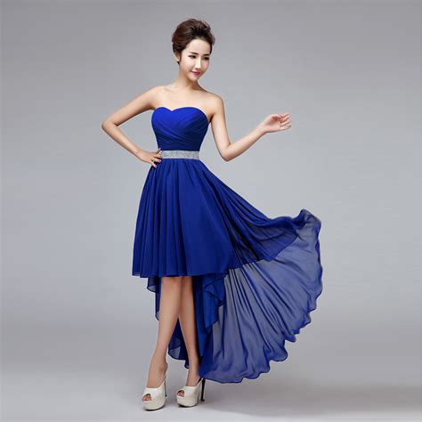 bridesmaid dresses in royal blue high low royal blue bridesmaid dress high waist irregular swallowtail bridesmaid gown