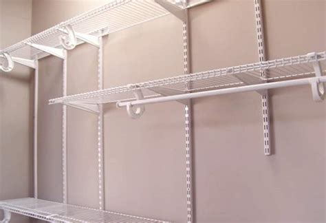 How To Hang Closetmaid Wire Shelving - how to install a closetmaid shelftrack closet storage