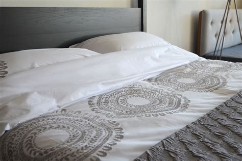 cloud grey embroidered cotton bedding natural bed company