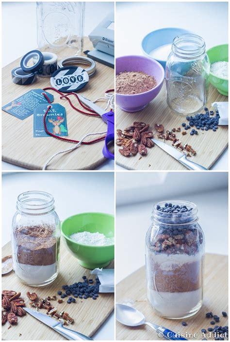 cuisine chimique s o s brownie brownies dans un bocal cadeau gourmand
