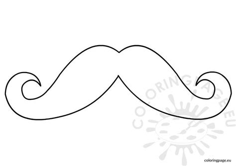 mustaches  coloring pages