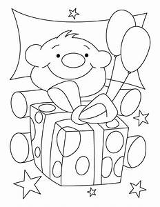 Free coloring pages of birthday gift