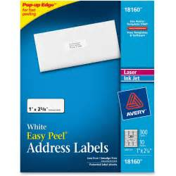Avery 18160 Easy Peal Address Labels AVE18160