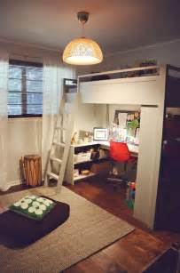 diy kitchen ideas mixing work with pleasure loft beds with desks underneath