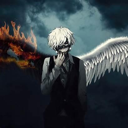 Kaneki Ken Wings Fire Resolution Anime Wallpapers