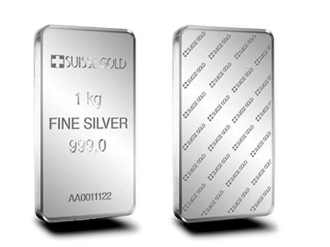 the bullion desk silver 1 kilogram suisse gold silver bullion bar 999 0 for