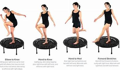 Exercises Trampoline Workout Rebounder Mini Rebounding Exercise
