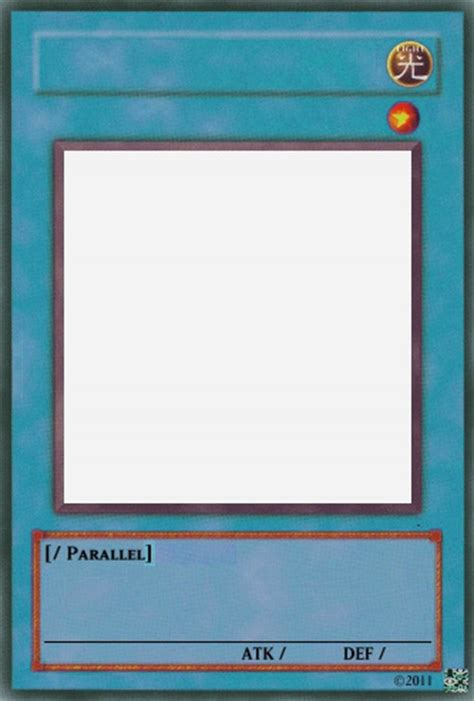 yugioh card template image parallel template jpg yu gi oh card maker wiki fandom powered by wikia