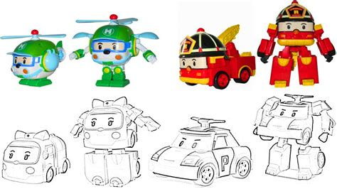 robocar poli coloring pages  kids youtube