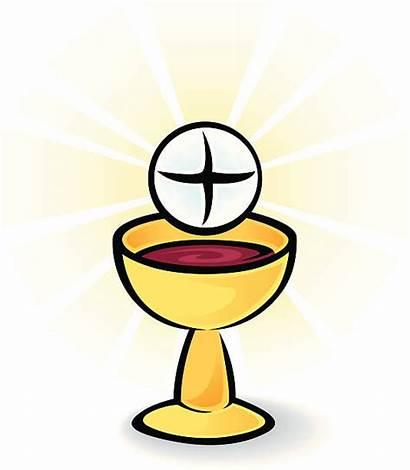 Communion Bread Holy Wine Clipart Vector Eucharist