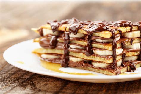 pancakes cuisine az pancake façon tiramisu à la banane confiture de lait et chocolat cuisine az