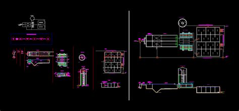 water treatment plant water dwg plan  autocad designs cad
