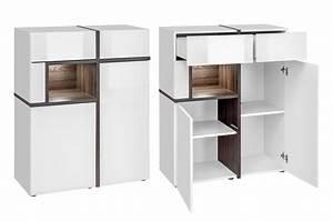 Meuble Salon Blanc : meuble salon complet design blanc bois pour salon ~ Dode.kayakingforconservation.com Idées de Décoration