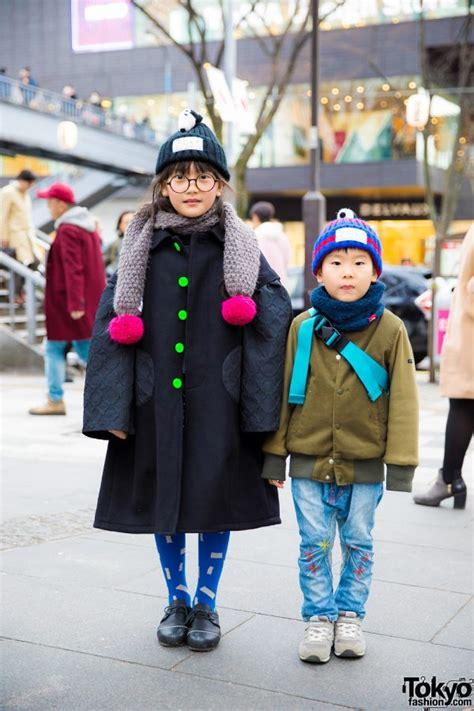 stylish harajuku kids  adorable winter fashion  franky grow boo foo woo tokyo fashion