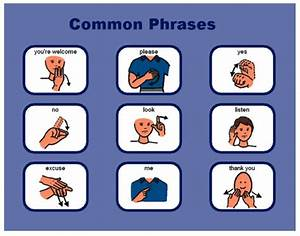 ASL common phrases. | Sign Languages | Pinterest | To be ...