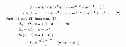 Series Geometric Finite Sequences Formula General Sum