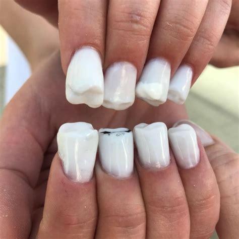 trend alert  nail art    teeth